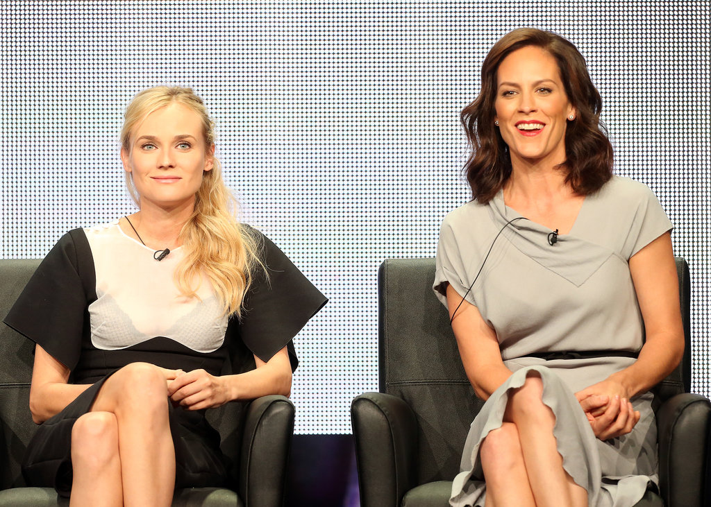 Diane Kruger and Annabeth Gish both took the stage to share details about The Bridge.