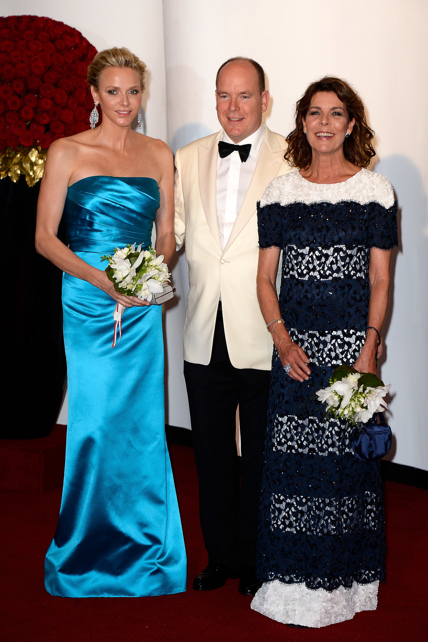 At the Monaco Red Cross Gala, Princess Charlene of Monaco, Prince Albert II of Monaco, and Princess Caroline of Hanover were at their most elegant.