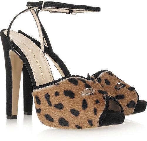 Charlotte Olympia Venetia animal-print calf hair sandals