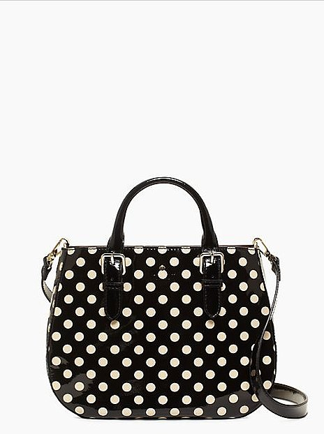 The simple shape of this bag ($169, originally $348) rules. The polka dots and top handle are just icing on the cake.