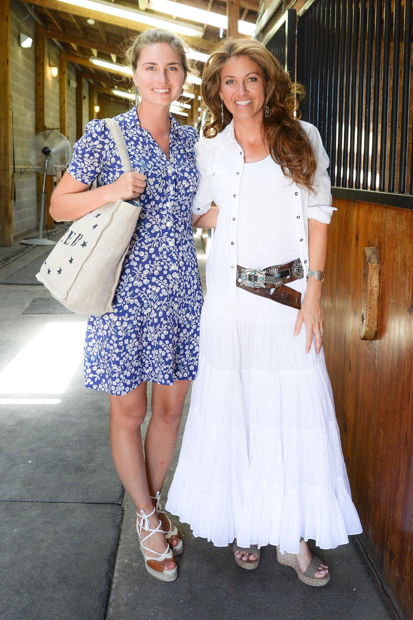 In Sagaponack, Lauren Bush Lauren and Dylan Lauren took in the adorable fashions at the Ralph Lauren Girls show.