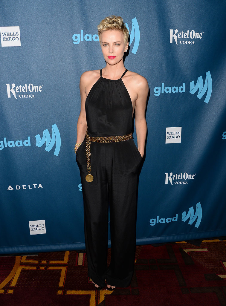 Charlize Theron wore the pants (a Jason Wu pantsuit, that is) for the GLAAD Media Awards.