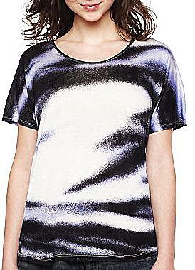 mac + jac Short-Sleeve Spray Paint Print Top