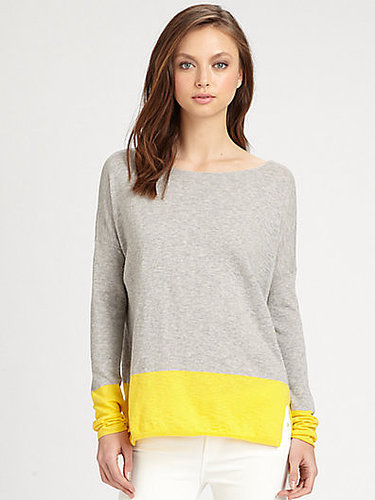 Vince Cotton Colorblock Sweater