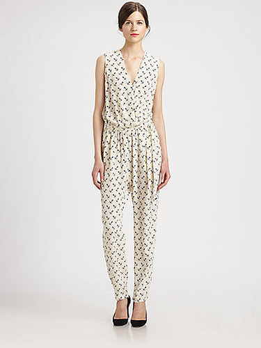 By Malene Birger Silk Anchor-Print Jumpsuit