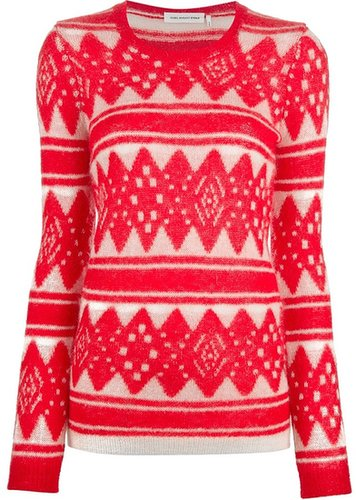 Isabel Marant Étoile 'Falk' intarsia knit sweater