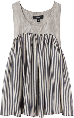 Suno / Yoke Pleated Tank