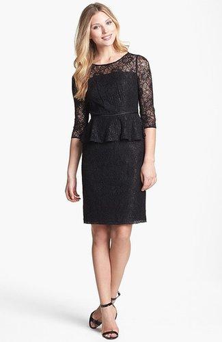 Adrianna Papell Peplum Lace Sheath Dress