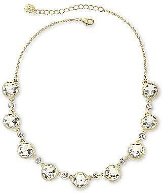 Monet® Gold-Tone Round Crystal Necklace