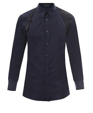 Alexander McQueen Harness shoulder detail shirt