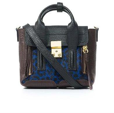 3.1 Phillip Lim Pashli mini leather and pony hair satchel
