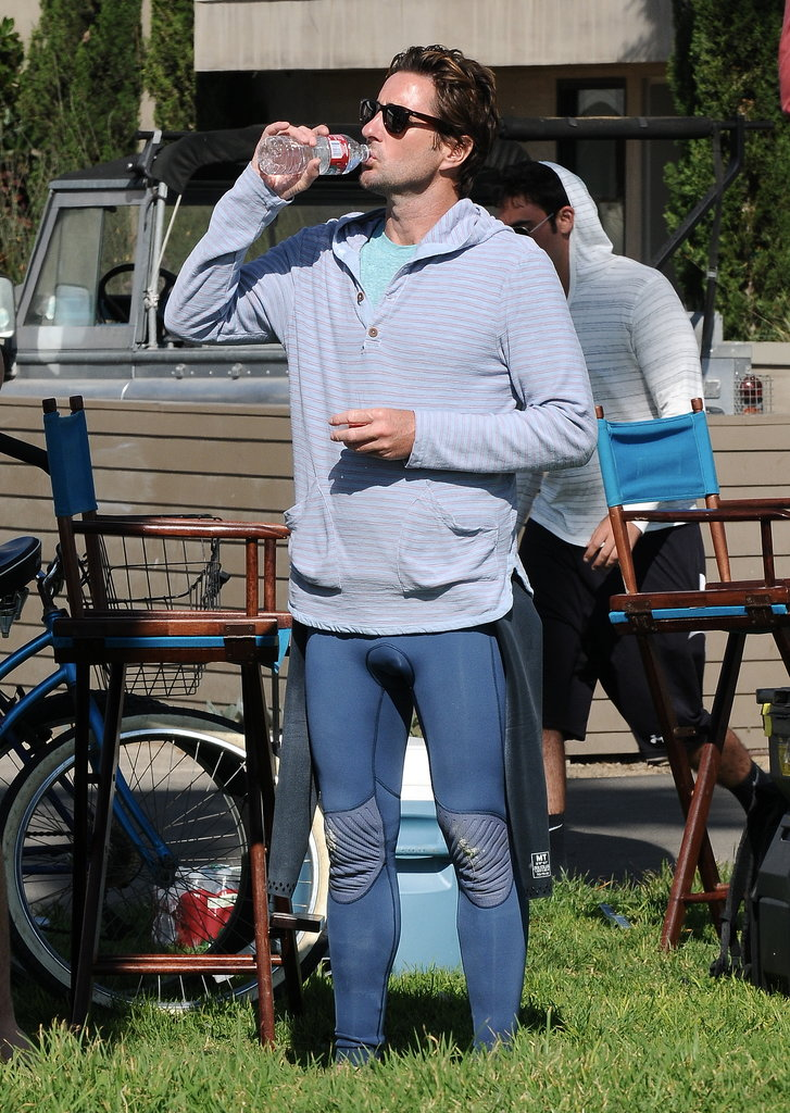 Luke Wilson filmed scenes for his new project Ride in Venice Beach, CA, on Tuesday.