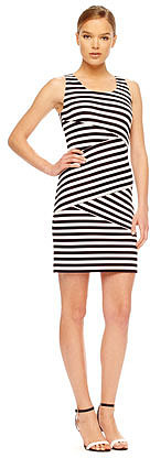 MICHAEL Michael Kors Striped Paneled Dress