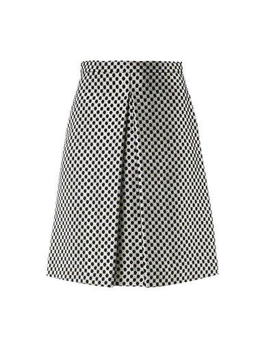 Osman Checkered brocade skirt