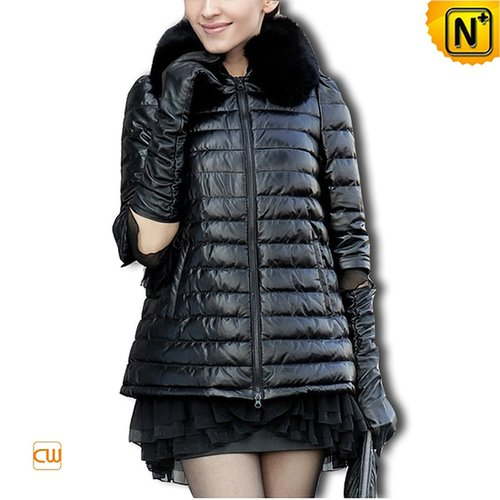 Sheepskin Leather Down Coat CW610031 - cwmalls.com