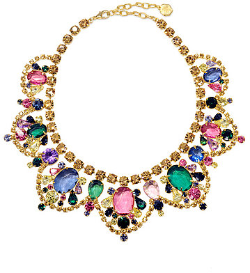 RJ Graziano Watercolor Stone Statement Necklace
