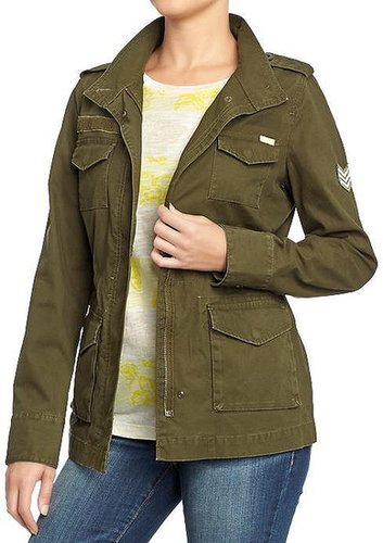 Women's Zip-Front Military Jackets