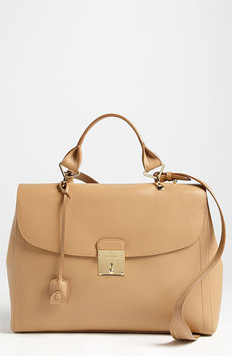 MARC JACOBS '1984' Leather Satchel Beige