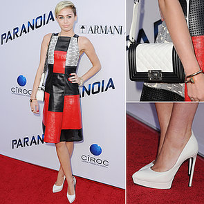 Miley Cyrus in Proenza Schouler at Paranoia Premiere