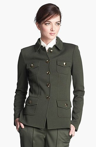 St. John Collection Milano Knit Military Jacket 0
