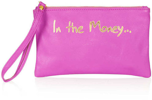 Phrase Zip Top Purse