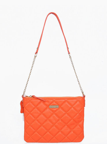 KATE SPADE NEW YORK GOLD GINNIE QUILTED ORANGE