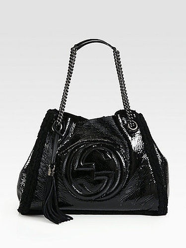 Gucci Soho Crushed Patent Leather Shoulder Bag