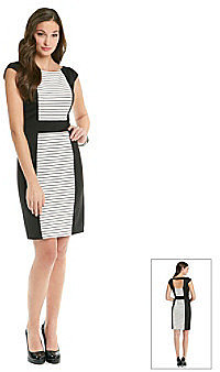 Vince Camuto Blocked/Striped Dress