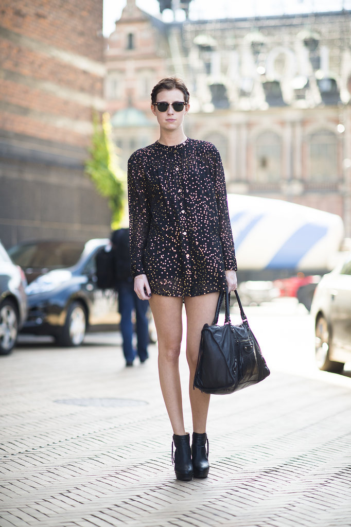 A pretty potent print with a mini-hemline packs a major punch. Source: Le 21ème | Adam Katz Sinding