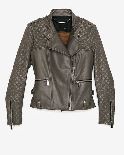 Barbara Bui Quilted Sleeve Leather Jacket