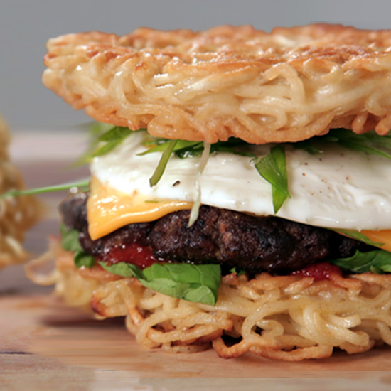 easy ramen recipes Food  POPSUGAR   Burger Recipe Ramen Video