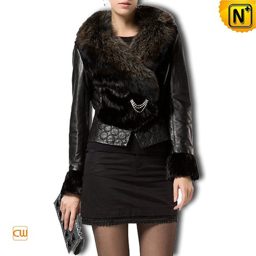 Sheepskin Leather Fur Jacket CW610039 - cwmalls.com