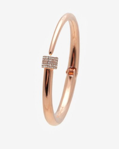 Vita Fede Eclipse Crystal Cuff: Rose Gold