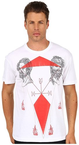 McQ - Tattoo Map Drop Shoulder Tee (Optic White) - Apparel