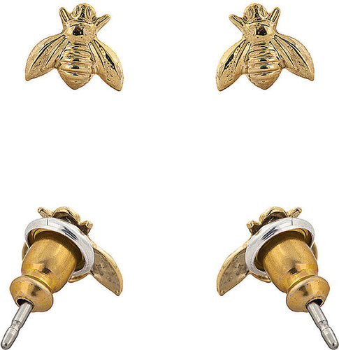 Gold Plated Earring Pair - Bumble Bee