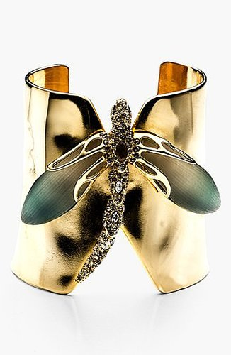 Alexis Bittar 'Lucite - Neo Bohemian' Dragonfly Cuff Bracelet Teal