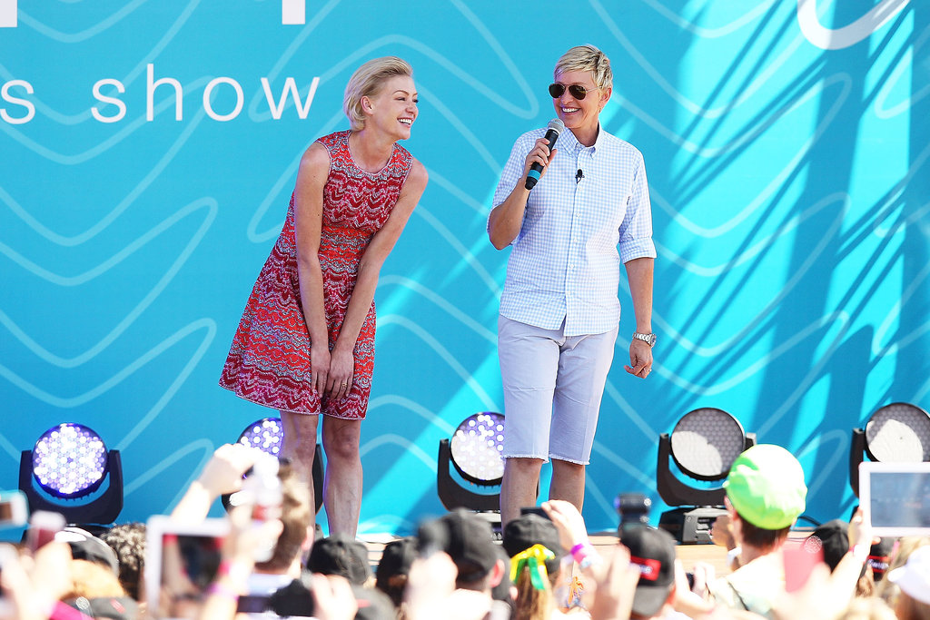 In March 2013, Portia joined Ellen on stage in her home country of Australia.