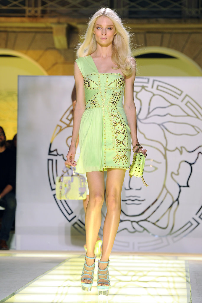 The Summer 2012 runway was an explosion of studs —just the way Donatella likes it!