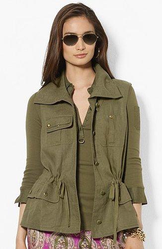 Lauren Ralph Lauren Drawcord Linen Vest X-Small