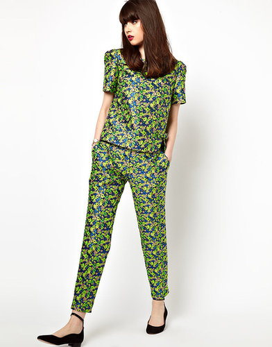 Boutique By Jaeger Tailored Pant In Floral Jacquard