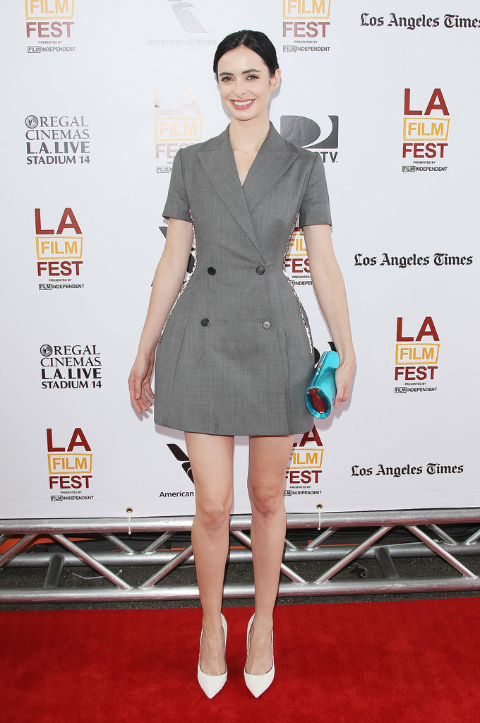 Krysten Ritter in Double Breasted Dior Dress