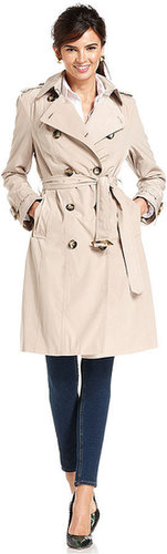 London Fog Coat, Double-Breasted Belted Trench
