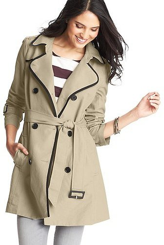 Tall Tipped Cotton Canvas Trench