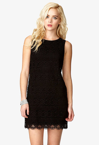 FOREVER 21 Crocheted Shift Dress