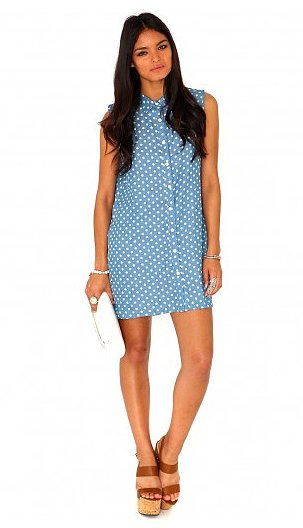 How cute will MissGuided's Kemina polka-dot oversize shirtdress ($33) look with your favor