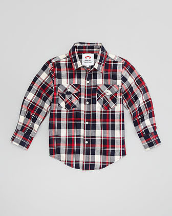 Appaman Fire Brick Flannel Shirt