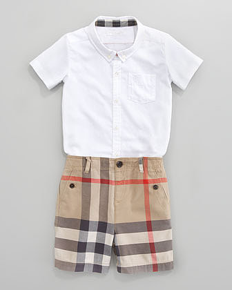 Burberry Mini Check Shorts