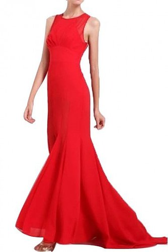 BCBG CLARISSA SLEEVELESS HIGH-LOW GOWN RED