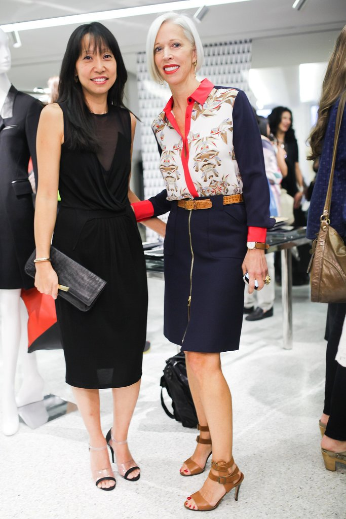 Linda Fargo joined Christine Park to fete the launch of her handbag line at Bergdorf Goodman.