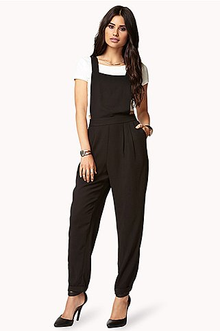 Our Fall shopping list wouldn't be complete without a pair of overalls — this Forever 21 pair ($28) won't break the bank.
